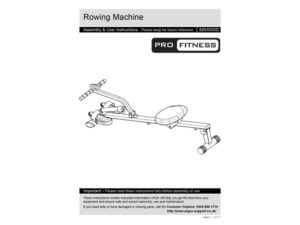 pro fitness rowing machine manual