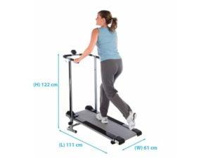 pro fitness non-motorised dimensions