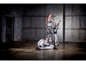 Girl using jet 100 cross trainer workout