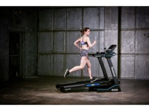 girl running on jet 300 treadmill