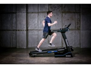 man running on jet 300 treadmill