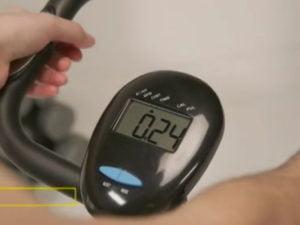 Roger Black folding exercise bike LCD display