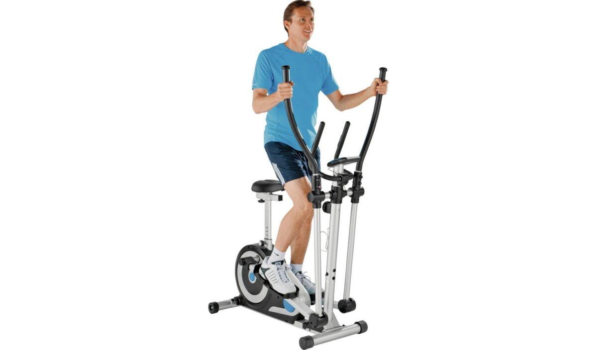 roger black on 2 in 1 bike cross trainer