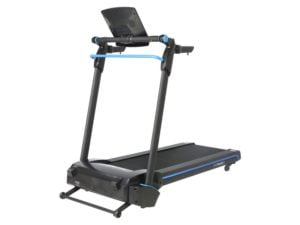 Roger black easy fold treadmill front view
