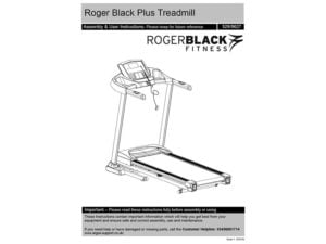 Roger black plus instruction booklet
