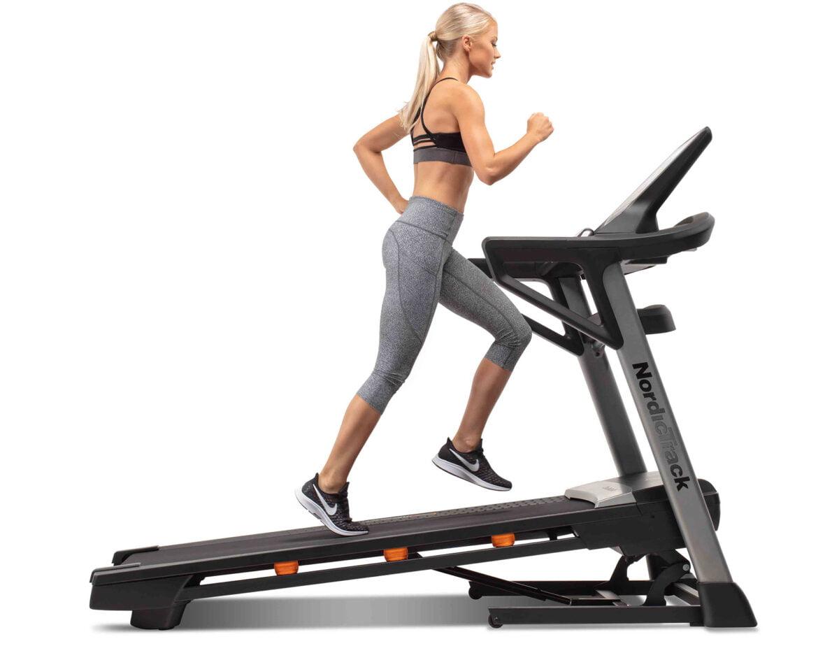 women running NordicTrack T 9 5s Treadmill